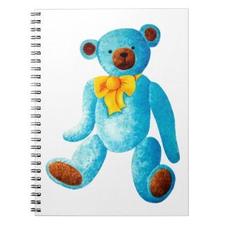 Vintage/Traditional Style Blue Painted Teddy Bear Notebook