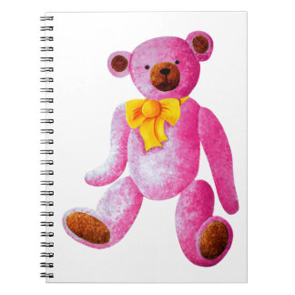 Vintage/Traditional Style Pink Teddy Bear Notebook
