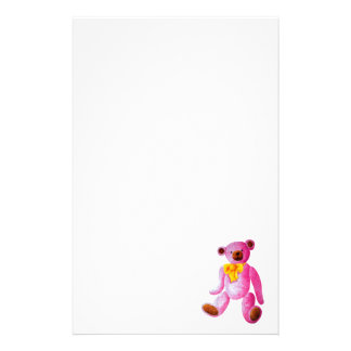 Vintage/Traditional Style Pink Teddy Bear Stationery
