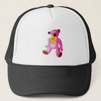Vintage/Traditional Style Pink Teddy Bear Trucker Hat