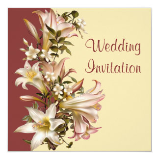 Vintage Traditional Wedding Square Invitation