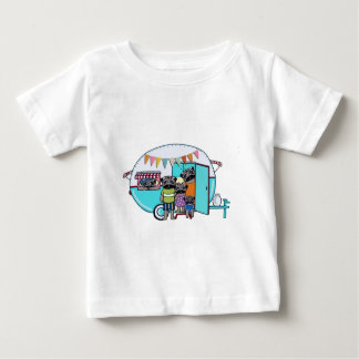 Vintage Trailer Pugs Baby T-Shirt