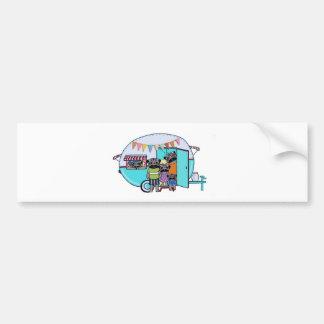 Vintage Trailer Pugs Bumper Sticker