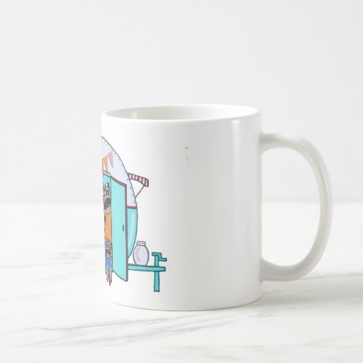 Vintage Trailer Pugs Coffee Mug