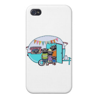 Vintage Trailer Pugs iPhone 4/4S Cover