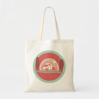 Vintage Trailer Totebag Budget Tote Bag