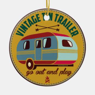 Vintage trailer / vintage camper mugs, gifts, etc! ceramic ornament