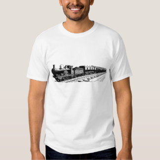 Vintage Train - Black T-Shirt