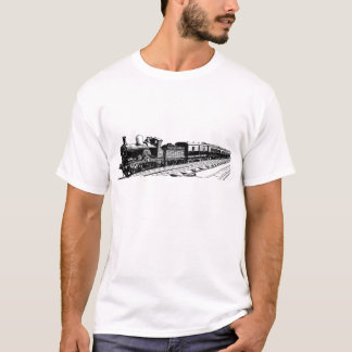 Vintage Train - Black T-Shirt