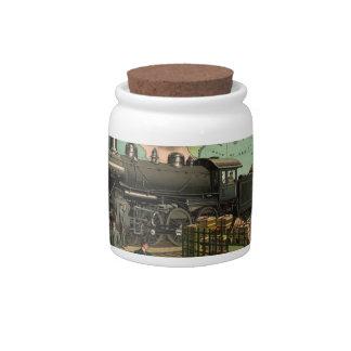 Vintage Train Candy Jar