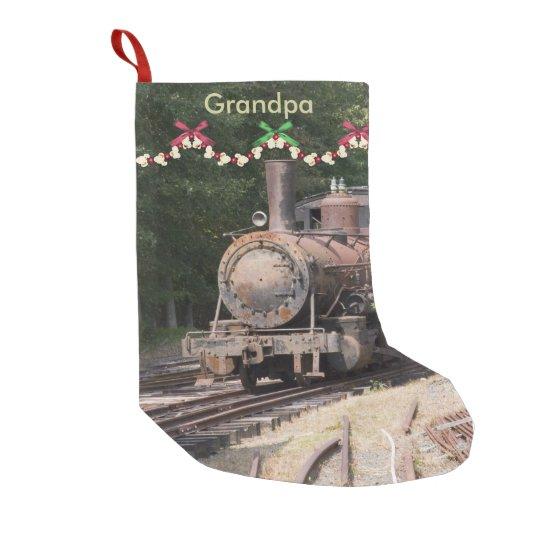 Vintage Christmas Stockings.Vintage Train Christmas Stocking