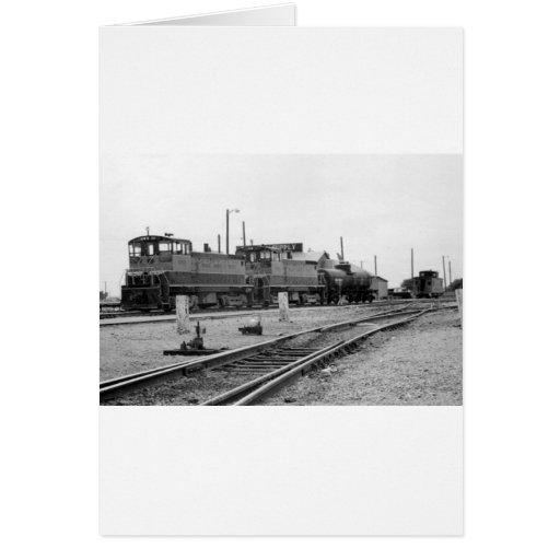 Vintage Train Engine Card