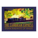 Vintage train folded card