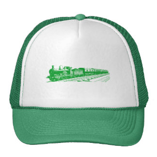Vintage Train - Grass Green Trucker Hat