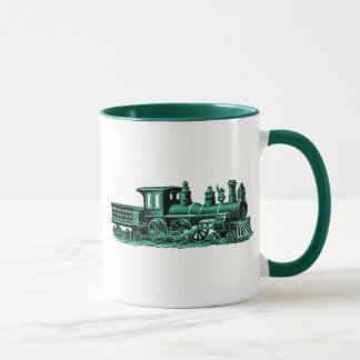 Vintage Train in Green Mug