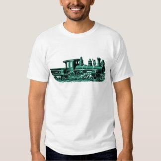 Vintage Train in Green Shirt