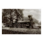 Vintage Train / Locomotive Photo Poster