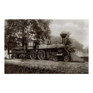 Vintage Train / Locomotive Photo Poster