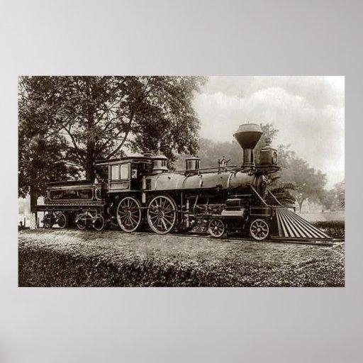 Vintage train locomotive photo poster zazzle for Vintage train posters