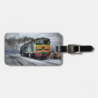 Vintage Train Luggage Tag