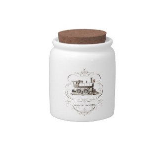 Vintage Train of Thought Candy Jar