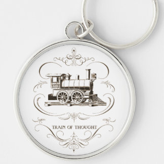 Vintage Train of Thought Key Chain