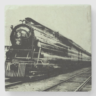 Vintage Train Photo in Motion with Blur Stone Coaster