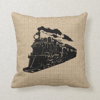 Vintage Train Pillow