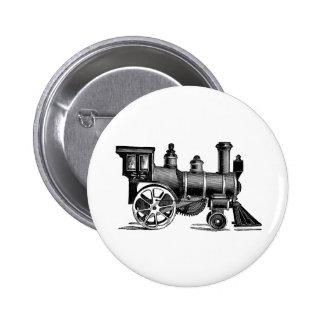 Vintage Train Pinback Button