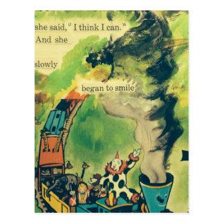 Vintage Train Poem Postcard