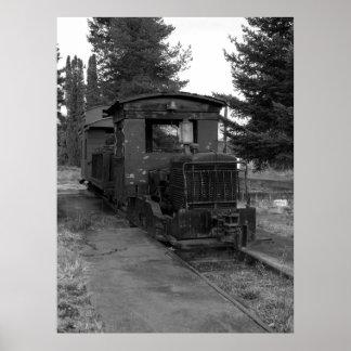 Vintage Train Print