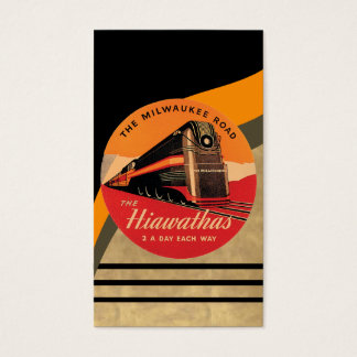 Vintage Train Poster Business Card