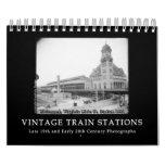 Vintage Train Station Photos 1890s - 1900s Calendar