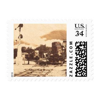Vintage Train Station Stamp