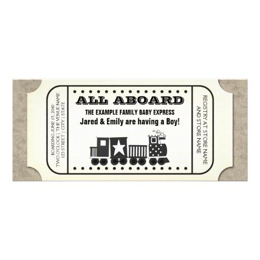 Train Party Invitation for beautiful invitation design