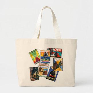 Vintage Train Travel Jumbo Tote Bag