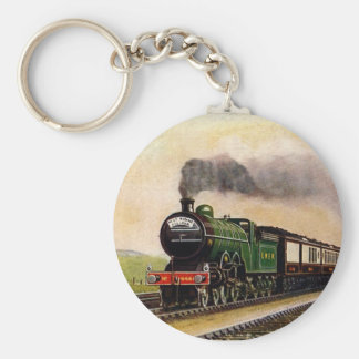 Vintage-Train-West Riding Pullman Keychain