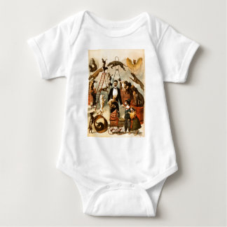Vintage Trained Circus Dog Act Trick Dogs1899 Baby Bodysuit