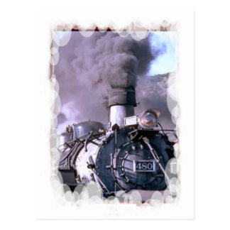 Vintage Trains and tracks -Great head of steam Postcard