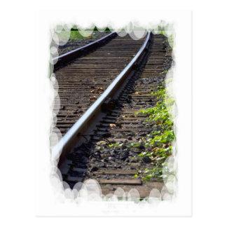 Vintage Trains and tracks -Rail track Postcard