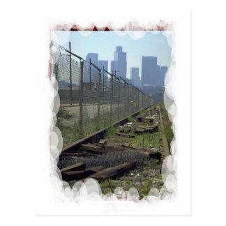 Vintage Trains and tracks - Wrong side of tracks Postcard