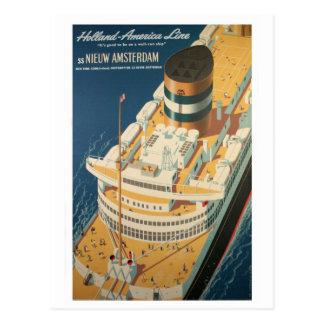 Vintage Trans-Atlantic Ship Postcard