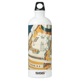 Vintage Trans-Atlantic Ship SIGG Traveler 1.0L Water Bottle
