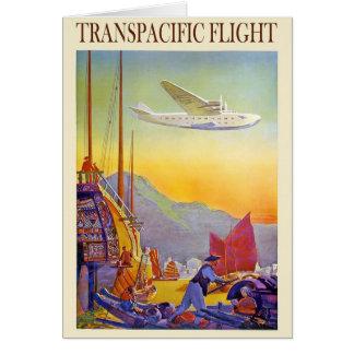Vintage Transpacific Flight Card