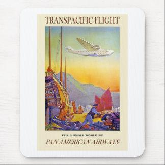 Vintage Transpacific Flight Mouse Pad