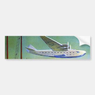 Vintage Transpacific Travel Bumper Sticker