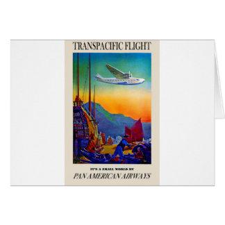 Vintage Transpacific Travel Card