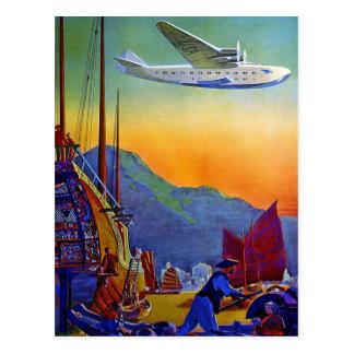 Vintage Transpacific Travel Postcard