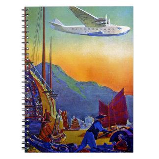 Vintage Transpacific Travel Spiral Notebook