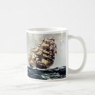 Vintage Transporation Clipper Ship in Rough Seas Mug